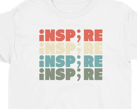 Inspire Semicolon Suicide Awareness Project Youth Short Sleeve T-Shirt