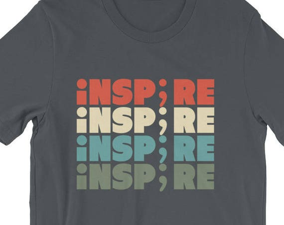 Inspire Semicolon Suicide Awareness Project Short-Sleeve Unisex T-Shirt