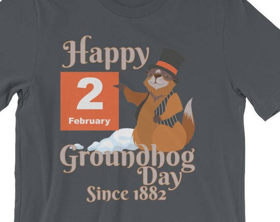 Groundhog Day T-Shirt - Happy Groundhog Day 2018 Short-Sleeve Unisex T-Shirt