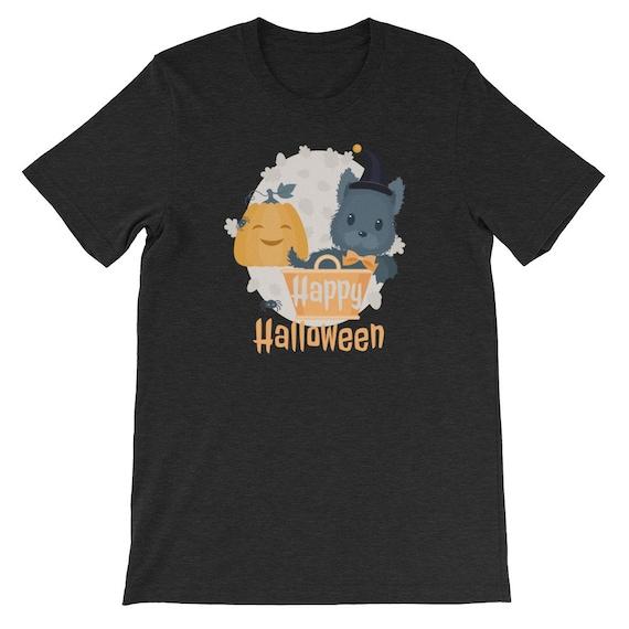 Happy Halloween Funny Cute Dog Pumpkin Witch 01