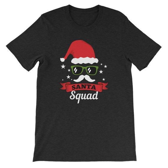 Santa Squad Christmas Winter Clause Costume Funny Uni Sex T Shirt 10