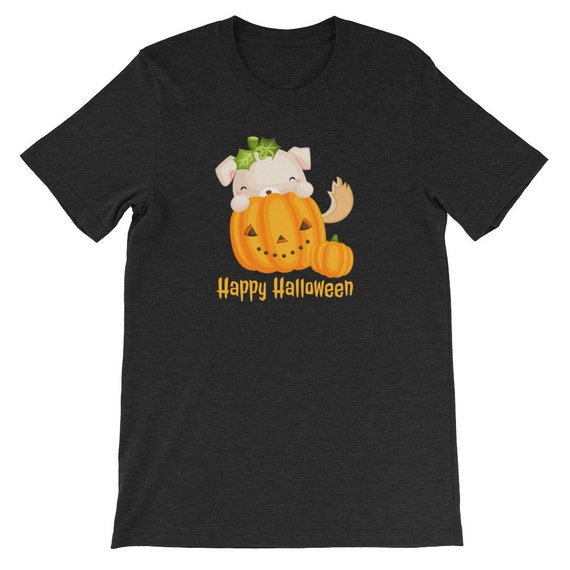 Happy Halloween Funny Cute Dog Pumpkin Witch 07