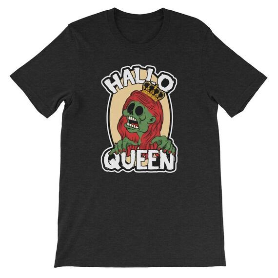 Halloqueen T Shirt  Womens Halloween Pumpkin Queen Uni Sex T Shirt 4