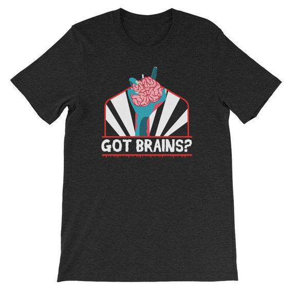 Zombie Got Brains Halloween Costume Uni Sex T Shirt 3