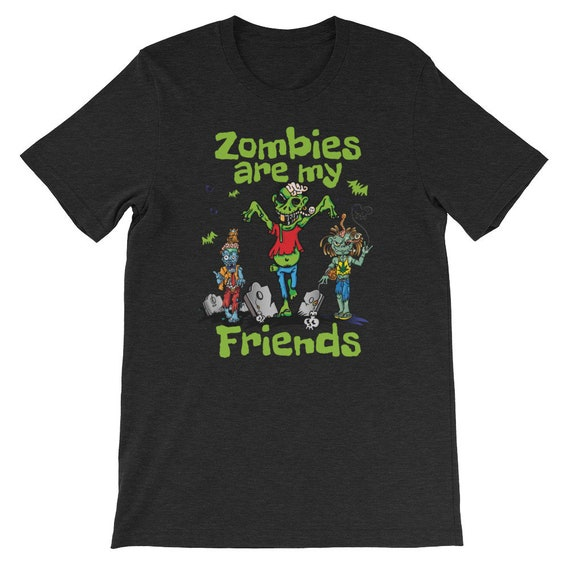 Zombies Are My Friends Halloween Graveyard