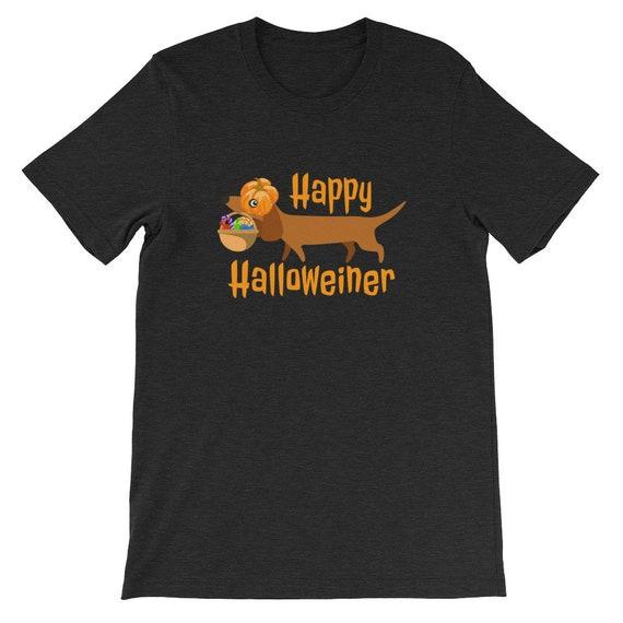 Happy Halloweiner Funny Cute Dog Pumpkin Witch