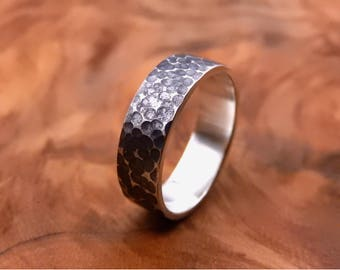 Volcanic Ring - Hammered Sterling Silver Ring