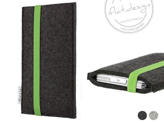 Handytasche COIMBRA mit Gummiband Verschluss Filz Hülle sleeve Filztasche case Tasche Schutzhülle passgenau für ALLE Smartphone Modelle