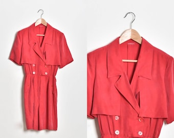 Red Jumpsuit, Loose jumpsuit, wide leg jumpsuit, Summer jumpsuit, Women romper, jumpsuits for women, women playsuit, casual jumpsuit