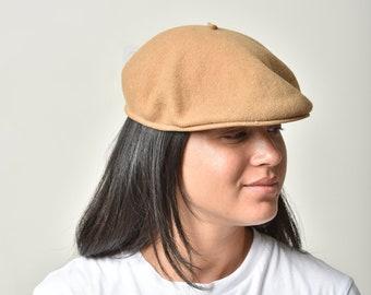 5d4d16bf Beret hat, Wool hat, Winter hat, Beige beret, Wool beret, Women hat, Beret  hat for women, French beret, Camel beret, Womens gift, gift