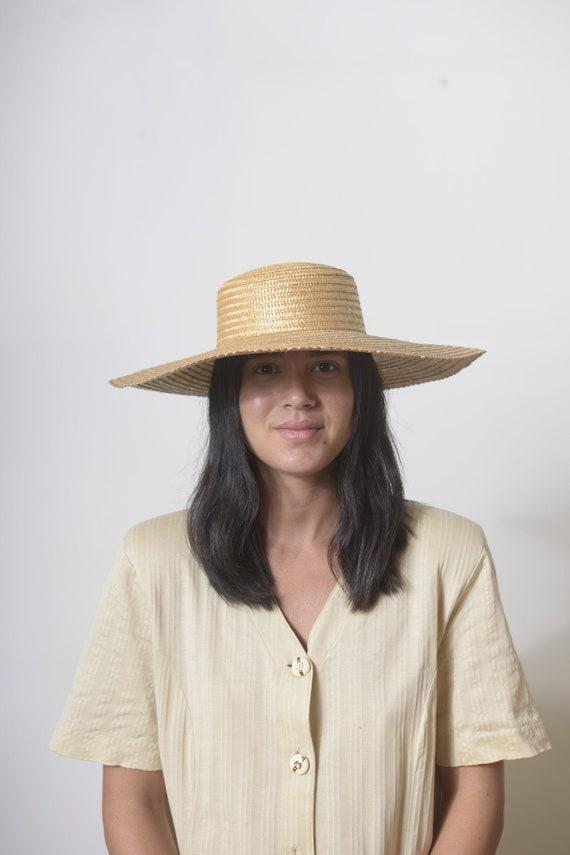 Wide Brim Straw Hat, Beach hat, Sun Hat, Summer h… - image 2