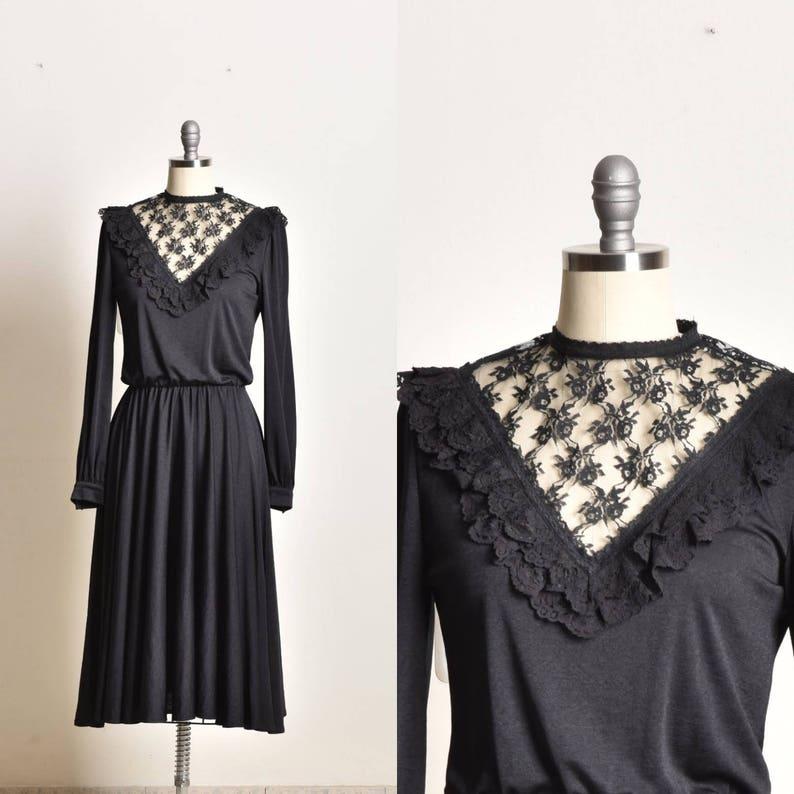 34e06a0132 Classy dress Black lace dress modest dress long sleeve