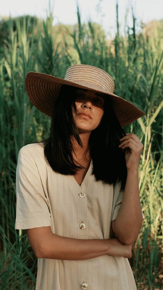 Wide Brim Straw Hat, Beach hat, Sun Hat, Summer h… - image 1