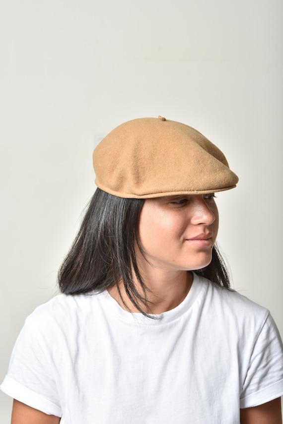 Womens Beret hat, Wool hat, Winter hat, Beige bere