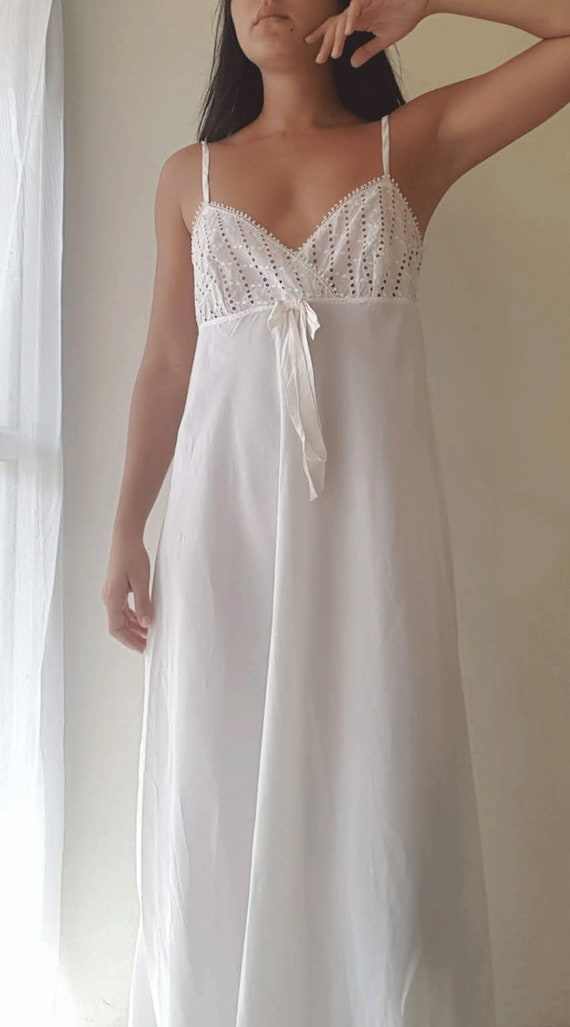 Christian Dior Lingerie, Dior slip, Nightgown, Whi