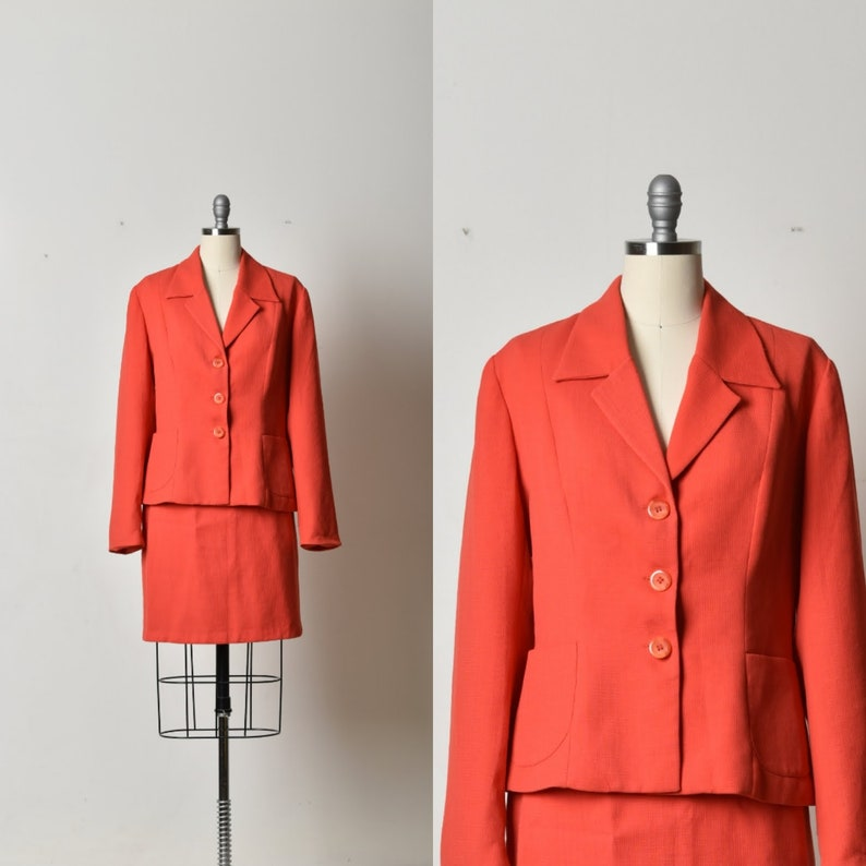 4eb7c0228b Komplet zimowy czerwony garnitur garnitur damskie elegancki