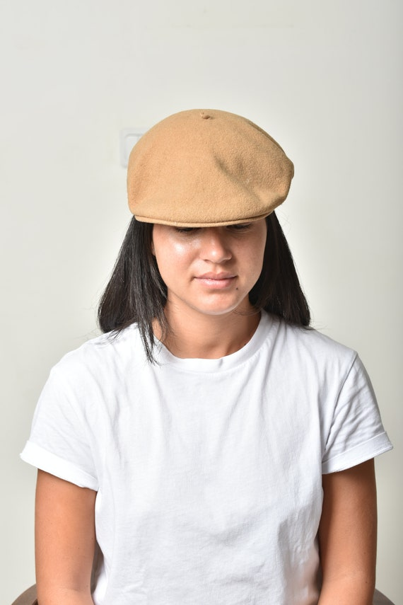 Womens Beret hat, Wool hat, Winter hat, Beige ber… - image 3