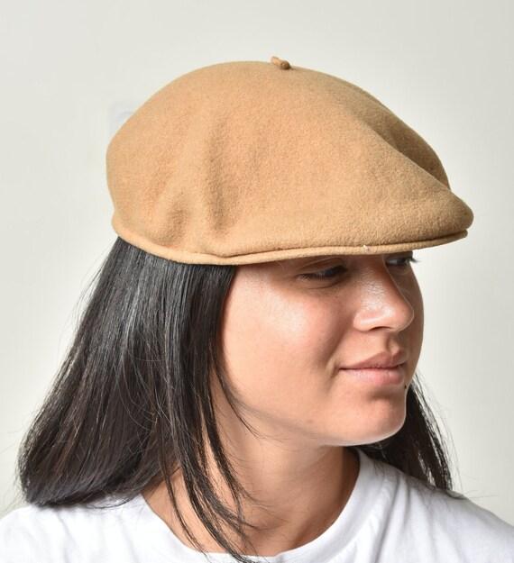 Womens Beret hat, Wool hat, Winter hat, Beige ber… - image 4