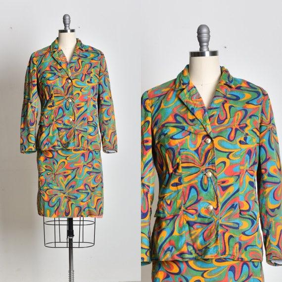 Ladies suit, 2pc suit, Womens suit, Coat and skirt