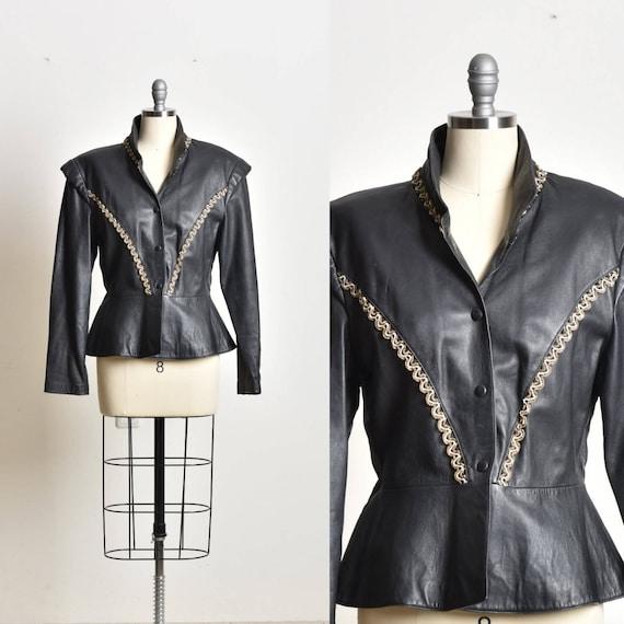 Leather Jacket, Black leather coat, women leather