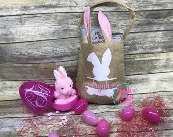 Burlap Easter Baskets