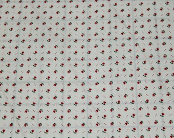 SMALL  HEARTS 100/% COTTON FABRIC IVORY ON WINE +