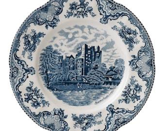 Blarney Castle circa 1792. Johnson Brothers Old Britain Castles Pink transferware dinner plate