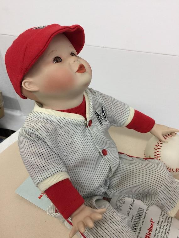 Ashton Drake Yolanda Bello Michael Porcelain Baseball Boy Doll Etsy