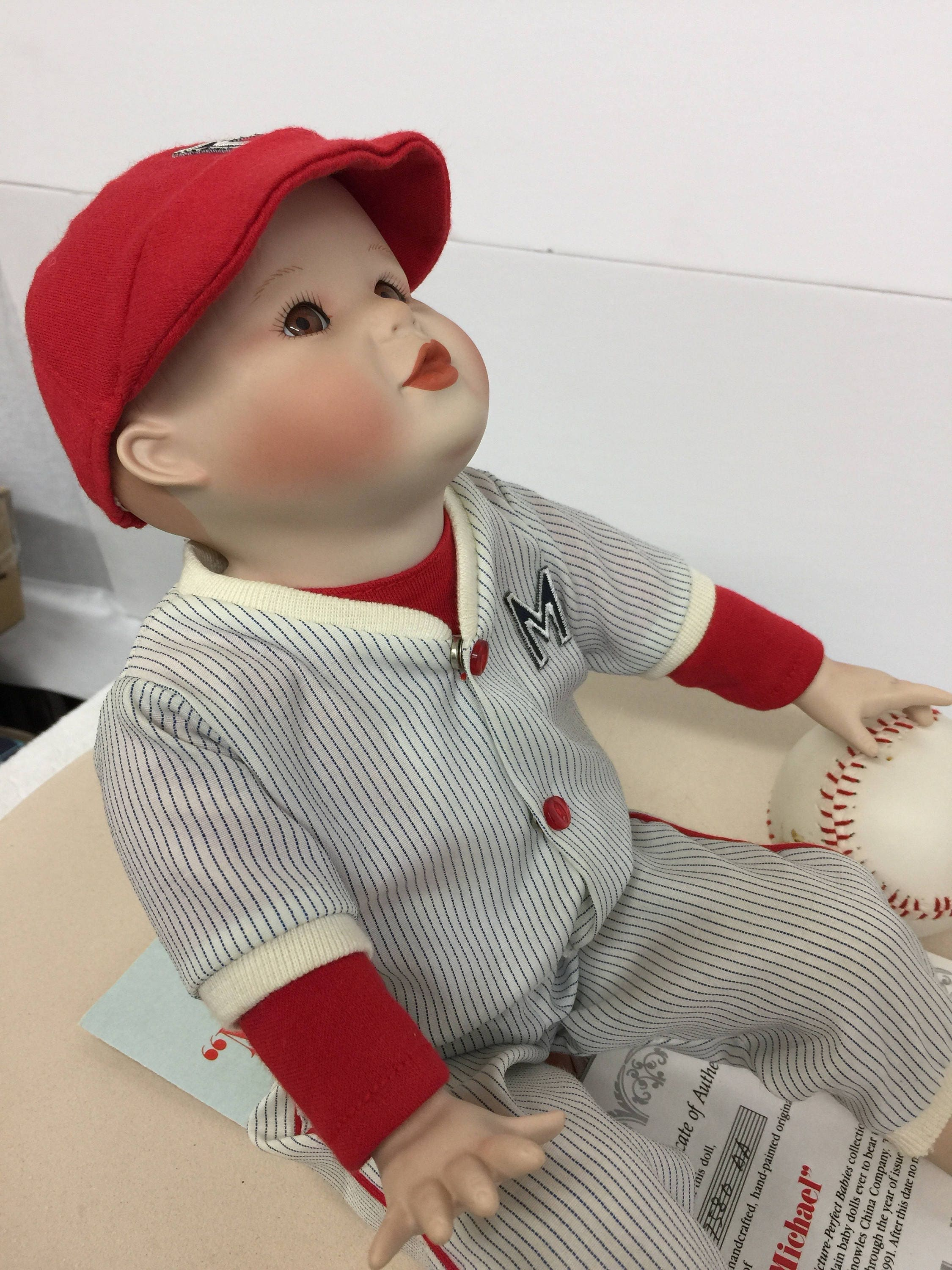 Ashton Drake Yolanda Bello Michael Porcelain Baseball Boy Doll Etsy