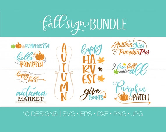Fall Quote Svg Dxf Bundle Silhouette Cutting Craft File Fall Etsy