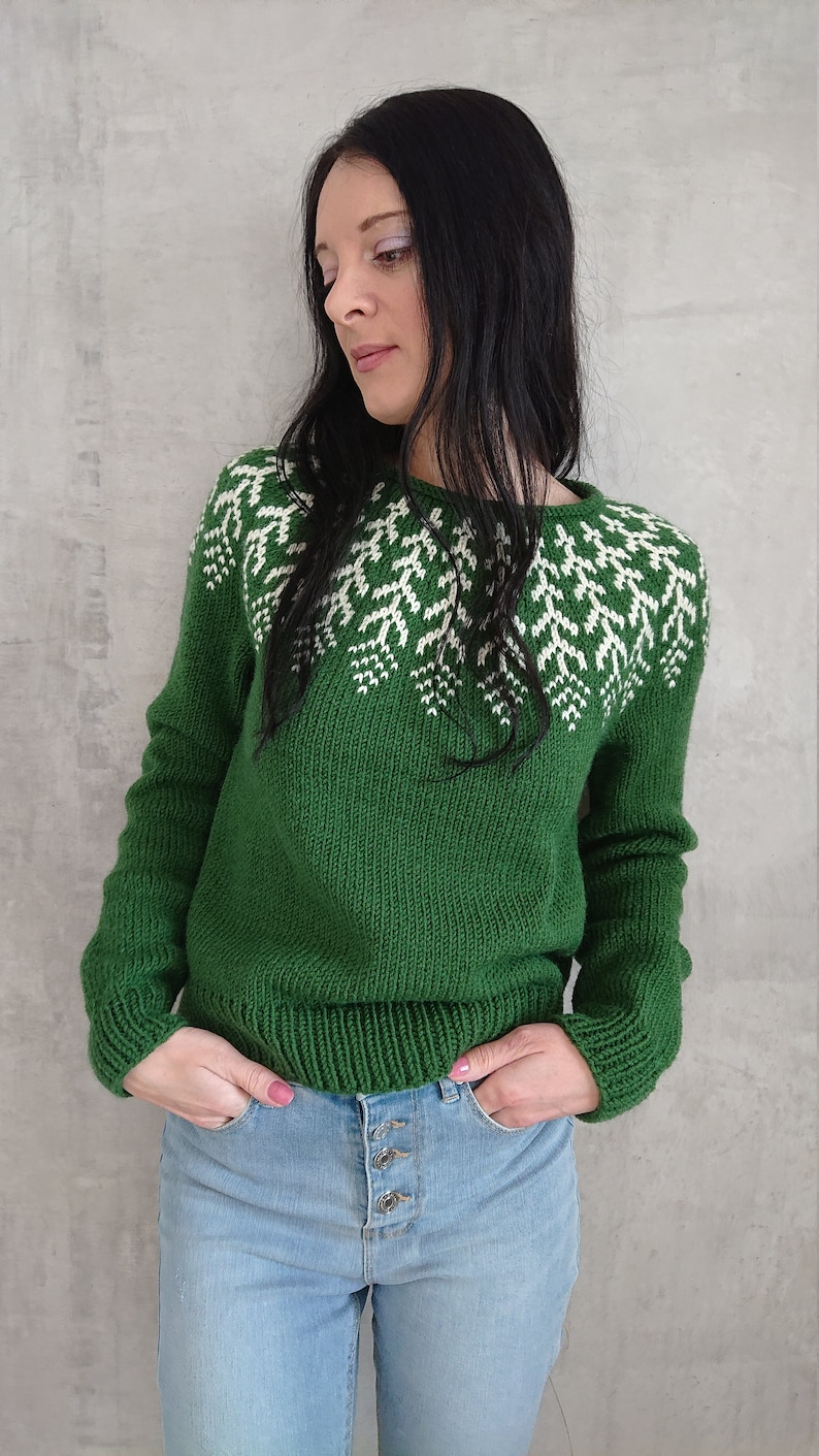 a0422bfa1 Icelandic knitted sweater for women Lopapeysa jumper in wool