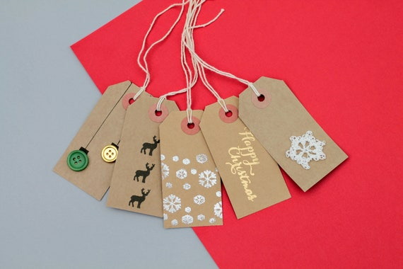 Christmas Gift Tags Handmade.A Set Of 10 Gift Tags Christmas Gift Tags Xmas Gift Tags Holiday Gift Tags Handmade Gift Tags Kraft Gift Tags Crochet Gift Tags