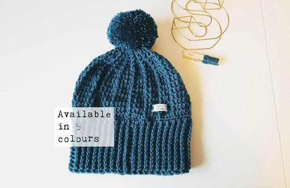 Men s Winter Handmade Woolly Hat   Adult Pom Pom Hat    19997e4a92b3