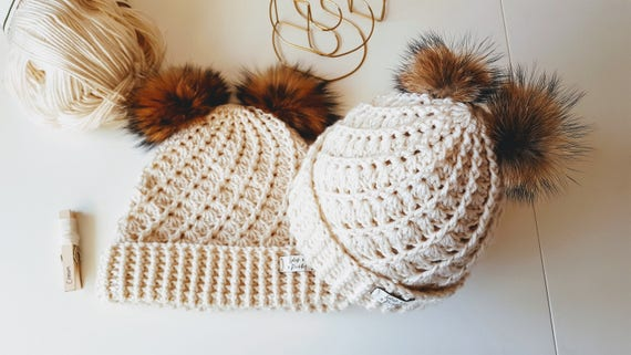 0dd640fbee4 Mummy   Me Woolly hat set   Mommy and Me Hat Duo   Double Faux