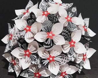Beispiel - Blumenstrauß 15 Origami Papier