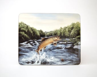 Leaping Brown Trout Table Mat