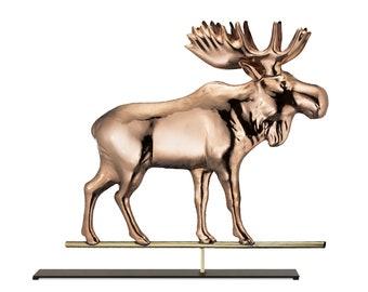 Moose Copper Table Top Sculpture   Home Decor