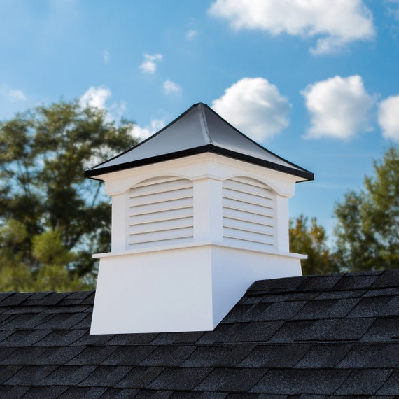 """Coventry Vinyl Cupola with Black Aluminum Roof 22"""" x 29"""""""