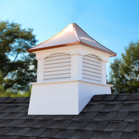 """Coventry Vinyl Cupola with Copper Roof 18"""" x 24"""""""