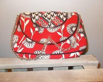 Vintage Handbag with Silver Chain Handle