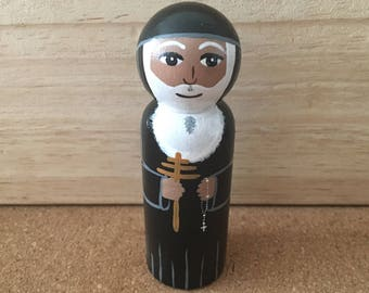 St. Charbel Catholic saint peg doll