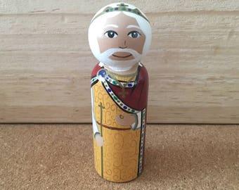St. Edward the Confessor catholic saint peg doll