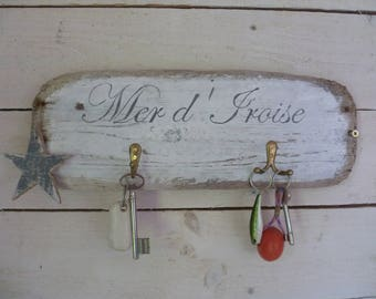 Key hanger Driftwood for 3 keys