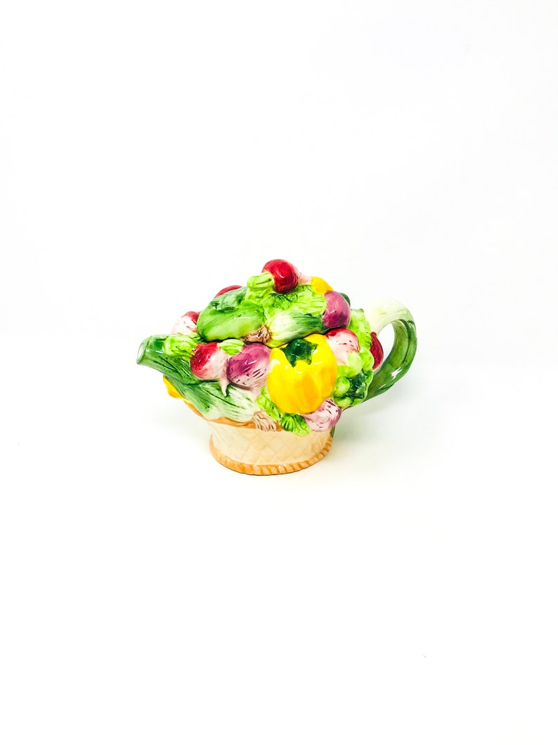 Vintage Teapot Vegetable Decor Vegetable Teapot Home Decor Kitchen Decor Kitchenware Gift Ideas Kitchen Kitsch Gifts for Her