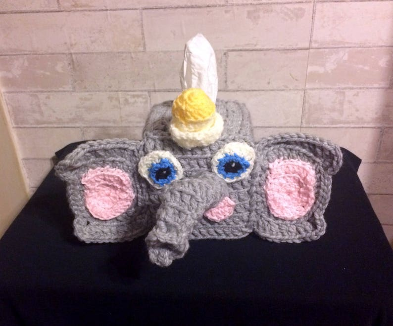 Free Pattern] Adorable Elephant Tissue Box Cover To Add A Touch Of ... | 660x794