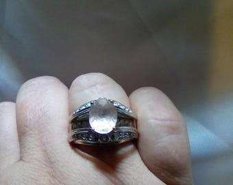 Pink Morganite Vintage Victoria Wieck Ring