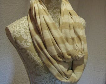 White and Beige Infinity Scarf