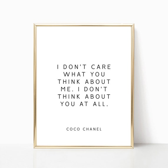 Coco Chanel Quotes Coco Chanel quotes PRINTABLE art Coco Chanel Decor Fashion | Etsy Coco Chanel Quotes