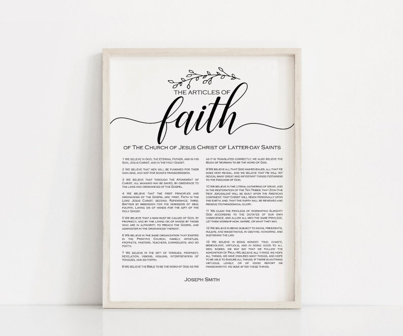 image about Articles of Faith Printable named Content of Religion Print, PRINTABLE artwork, LDS Information of Religion, Dwelling decor, printable, electronic obtain