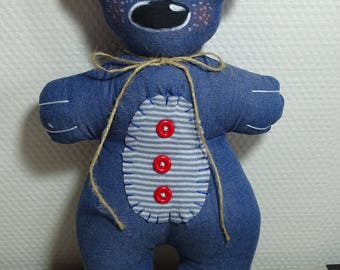 little bear blue thin denim